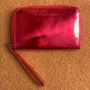 Victoria's Secret shiny pink wristlet wallet